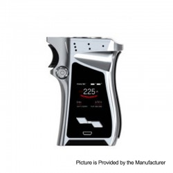Authentic SMOKTech SMOK Mag 225W TC VW Variable Wattage Mod Right-Handed Edition - Silver Black, 6~225W, 2 x 18650
