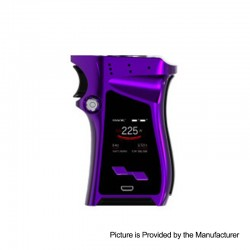 Authentic SMOKTech SMOK Mag 225W TC VW Variable Wattage Mod Right-Handed Edition - Purple Black, 6~225W, 2 x 18650