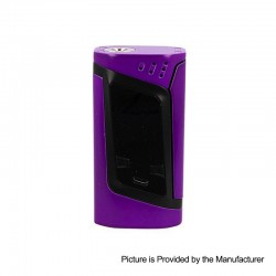 Authentic SMOKTech SMOK Alien 220W TC VW Variable Wattage Box Mod - Black Purple, 6~220W, 2 x 18650