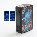 Authentic Vapelustion Hannya 230W TC VW Variable Wattage Box Mod - Graffiti, 2 x 18650