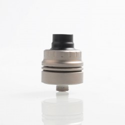 Vapeasy Armor S Style RDA Rebuildable Dripping Atomizer w/ BF Pin - Silver, 316 Stainless Steel, 22mm Diameter