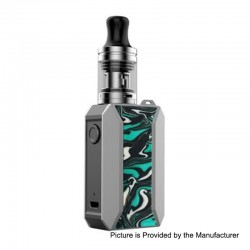 Authentic Voopoo Drag Baby Trio 25W 1500mAh TC VW Variable Wattage Mod Kit - Teal Blue, 5~25W, 1.8ml, 0.6 / 1.2 Ohm