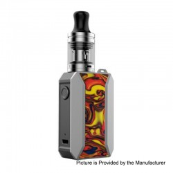 Authentic Voopoo Drag Baby Trio 25W 1500mAh TC VW Variable Wattage Mod Kit - Fiesta, 5~25W, 1.8ml, 0.6 / 1.2 Ohm