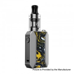 Authentic Voopoo Drag Baby Trio 25W 1500mAh TC VW Variable Wattage Mod Kit - Ceylon Yellow, 5~25W, 1.8ml, 0.6 / 1.2 Ohm