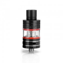 Authentic SMOKTech SMOK Micro TFV4 Sub Ohm Tank Clearomizer - Silver, Stainless Steel + Glass, 2.5ml, 0.3 Ohm, 22mm Diameter