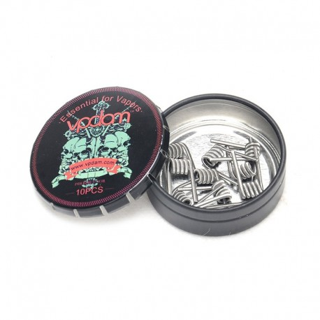 Authentic Vpdam Staggered Kanthal A1 Wire Prebuilt Coil - (24GA + 24GA) x 32GA, 0.3 Ohm (10 PCS)
