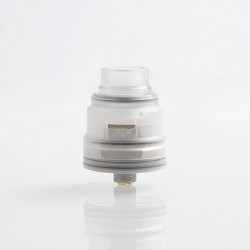 Reload S Style RDA Rebuildable Dripping Atomizer w/ BF Pin - White, Acrylic + Stainless Steel, 24mm Diameter