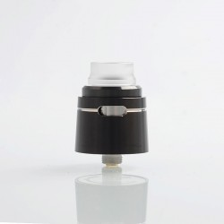 Authentic Vapesoon VS24 RDA Rebuildable Dripping Atomizer w/ BF Pin - Black, Stainless Steel, 24mm Diameter