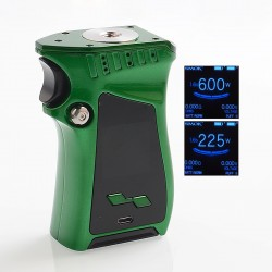 Authentic SMOKTech SMOK Mag 225W TC VW Variable Wattage Mod Right-Handed Edition - Green Black, 6~225W, 2 x 18650