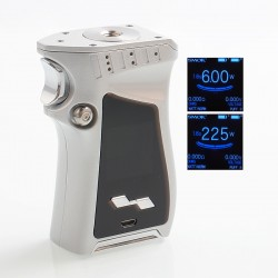 Authentic SMOKTech SMOK Mag 225W TC VW Variable Wattage Mod Right-Handed Edition - Silver Prism Chrome, 6~225W, 2 x 18650