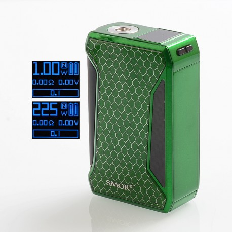 Authentic SMOKTech SMOK H-Priv 2 225W TC VW Variable Wattage Box Mod - Green, 1~225W, 2 x 18650