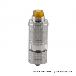 Kindbright VG V6 S V6S Style RTA Rebuildable Tank Atomizer - Silver, 316 Stainless Steel, 5.5ml, 23mm Diameter