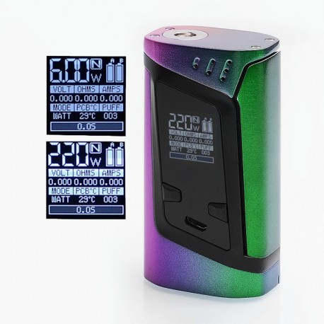 Authentic SMOKTech SMOK Alien 220W TC VW Variable Wattage Box Mod - Full Color, 6~220W, 2 x 18650
