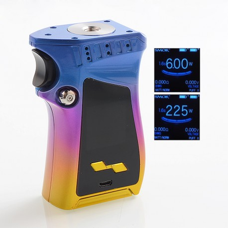 Authentic SMOKTech SMOK Mag 225W TC VW Variable Wattage Mod Right-Handed Edition - Blue + Multi-Color, 6~225W, 2 x 18650