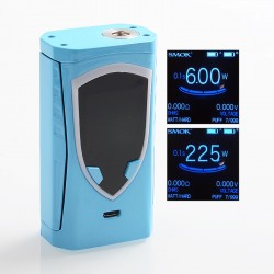 Authentic SMOKTech SMOK Procolor 225W TC VW Variable Wattage Box Mod - Royal Blue, 6~225W, 2 x 18650