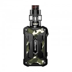 Authentic Rincoe Mechman 228W TC VW Box Mod + Mechman Mesh Tank Kit - Steel Wing Camo Black, 1~228W, 2 x 18650, 4.5ml