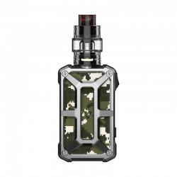 Authentic Rincoe Mechman 228W TC VW Box Mod + Mechman Mesh Tank Kit - Steel Bone Camo SS, 1~228W, 2 x 18650, 4.5ml