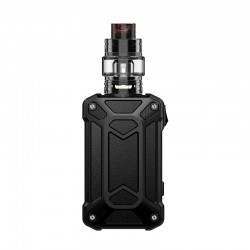 Authentic Rincoe Mechman 228W TC VW Box Mod + Mechman Mesh Tank Kit - Steel Case Full Black, 1~228W, 2 x 18650, 4.5ml