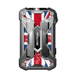 Authentic Rincoe Mechman 228W TC VW Variable Wattage Box Mod - Steel Wing Union Flag SS, 1~228W, 2 x 18650