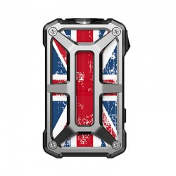 Authentic Rincoe Mechman 228W TC VW Variable Wattage Box Mod - Steel Bone Union Flag SS, 1~228W, 2 x 18650