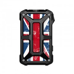 Authentic Rincoe Mechman 228W TC VW Variable Wattage Box Mod - Steel Bone Union Flag Black, 1~228W, 2 x 18650