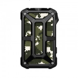 Authentic Rincoe Mechman 228W TC VW Variable Wattage Box Mod - Steel Bone Camo Black, 1~228W, 2 x 18650