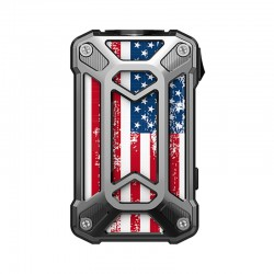 Authentic Rincoe Mechman 228W TC VW Variable Wattage Box Mod - Steel Case American Flag SS, 1~228W, 2 x 18650