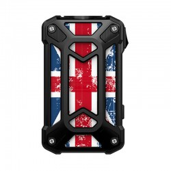 Authentic Rincoe Mechman 228W TC VW Variable Wattage Box Mod - Steel Case Union Flag Black, 1~228W, 2 x 18650