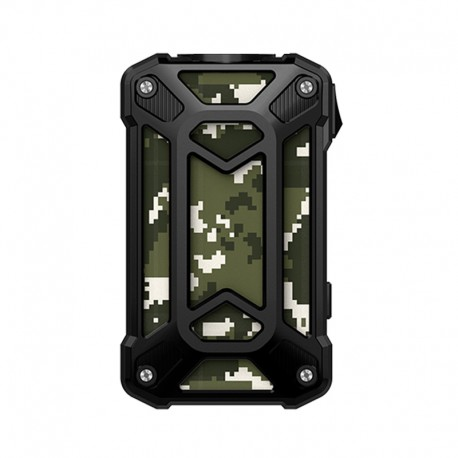 Authentic Rincoe Mechman 228W TC VW Variable Wattage Box Mod - Steel Case Camo Black, 1~228W, 2 x 18650