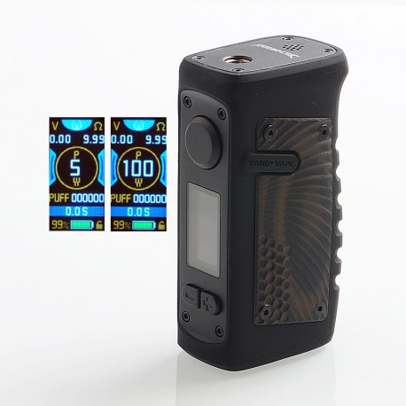 Authentic Vandy Vape Jackaroo 100W TC VW Variable Wattage Box Mod - American Eagle, 5~100W, 1 x 18650 / 20700 / 21700