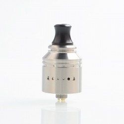 Authentic Vapefly Holic MTL RDA Rebuildable Dripping Atomizer w/ BF Pin - Silver, Stainless Steel, 22.2mm Diameter