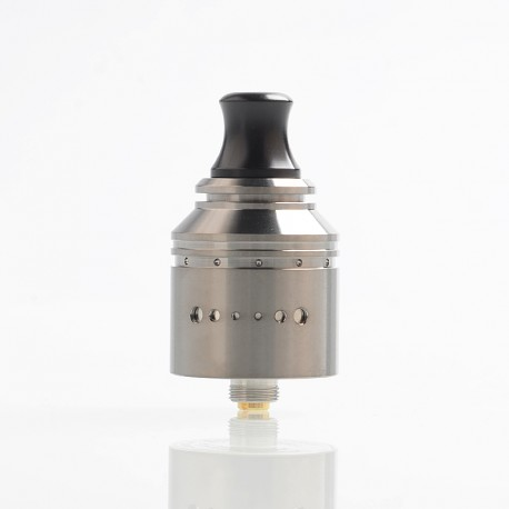 Authentic Vapefly Holic MTL RDA Rebuildable Dripping Atomizer w/ BF Pin - Gun Metal, Stainless Steel, 22.2mm Diameter