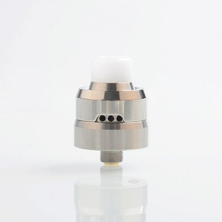 YFTK Auco Style RDA Rebuildable Dripping Atomizer w/ BF Pin - Silver, 316 Stainless Steel, 22mm Diameter