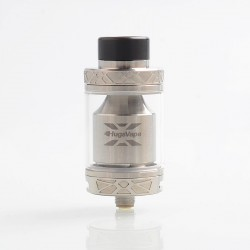 Authentic Hugsvape Ring Lord Mesh RTA Rebuildable Tank Atomizer - Silver, Stainless Steel, 5ml, 26mm Diameter