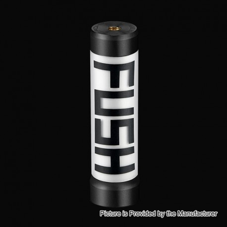 Authentic Acrohm Fush LED Semi-Mechanical Tube Mod - Black, 1 x 18650, 26mm Diameter