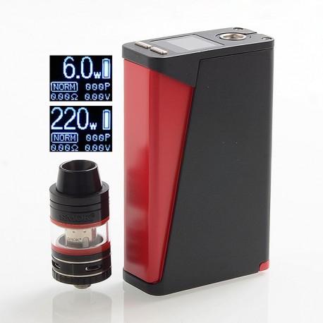 Authentic SMOKTech SMOK H-Priv 220W TC VW Box Mod + Micro TFV4 Kit - Black, 6~220W, 2 x 18650, 2.5 / 3ml