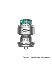 Authentic Vandy Vape Kylin M RTA Rebuildable Tank Atomizer - Silver, 3ml / 4.5ml, 24mm Diameter