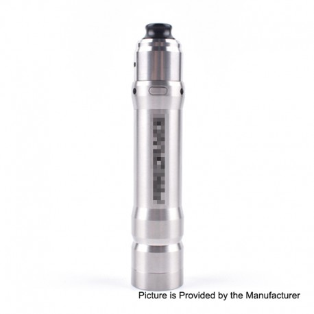 ShenRay Firedrake Style MOSFET Semi-Mechanical Tube Mod + Wave Style RDA Kit - Silver, Stainless Steel, 1 x 18650