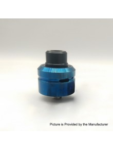 Vapeasy Daywon Style RDA Rebuildable Dripping Atomizer w/ BF Pin - Blue, 316 Stainless Steel, 22mm Diameter