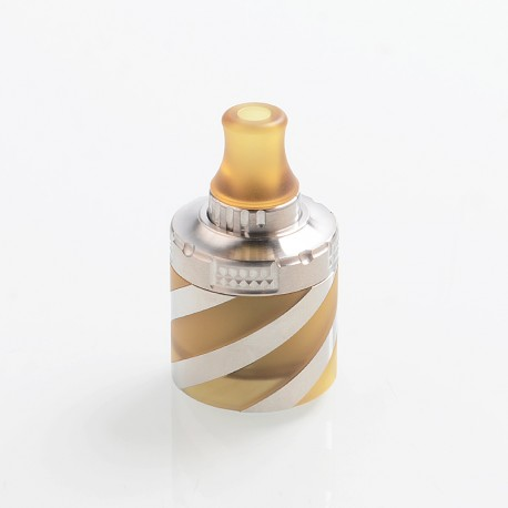 Coppervape Spica Pro Helix Kit Short Tank Set for Spica Pro Style MTL RTA - Silver + Ultem, 316 Stainless Steel + PEI, 2ml