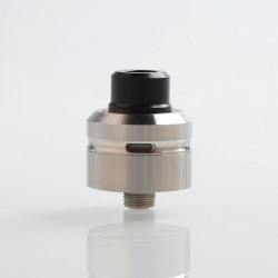 Vapeasy Daywon Style RDA Rebuildable Dripping Atomizer w/ BF Pin - Silver, 316 Stainless Steel, 22mm Diameter