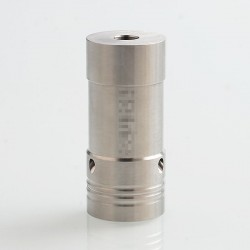 Hellfire V6 Style Hybrid Mechanical Tube Mod - Silver, 316 Stainless Steel, 1 x 18350