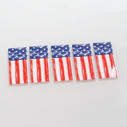 Authentic BugabooVape PVC Wrapper Skin Sticker for 18650 Battery - National Flag (5 PCS)