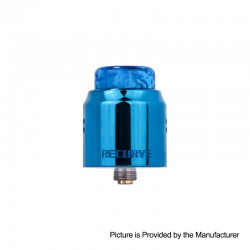 Authentic Wotofo Recurve Dual RDA Rebuildable Dripping Atomizer w/ BF Pin - Blue, Stainless Steel, 24mm Diameter