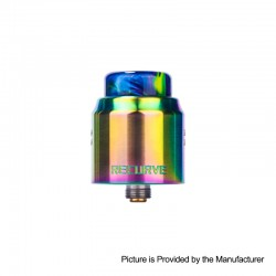 Authentic Wotofo Recurve Dual RDA Rebuildable Dripping Atomizer w/ BF Pin - Rainbow, Stainless Steel, 24mm Diameter