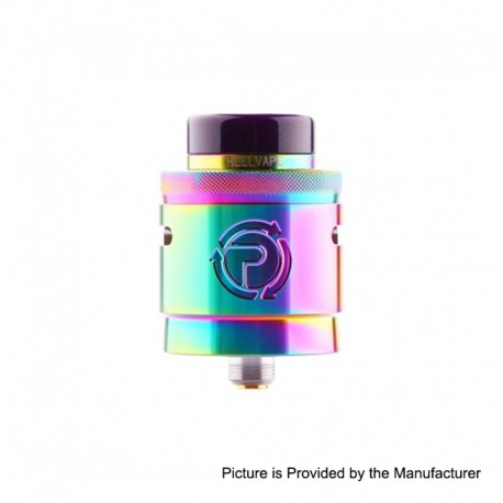 Authentic Hellvape Passage RDA Rebuildable Dripping Atomizer w/ BF Pin - Rainbow, Stainless Steel, 24mm Diameter