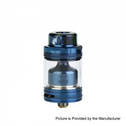 Authentic Footoon Aqua Master V2 RTA Rebuildable Tank Atomizer - Blue, Stainless Steel, 4.5ml, 24mm Diameter