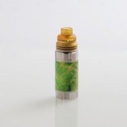 Authentic Ultroner Mini Stick Stabilized Wood Mechanical Mod + Ultroner RDA Kit - Silver + Green, 1 x 18350