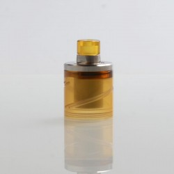 SteamTuners Style Top Fill Tank Kit + Drip Tip for 22mm KF Lite 2019 Style RTA - Silver + Ultem, 316 Stainless Steel + PEI