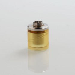 Vapeasy SteamTuners Style Top Fill Tank Kit for 22mm KF Lite 2019 Style RTA - Silver + Ultem, 316 Stainless Steel + PEI